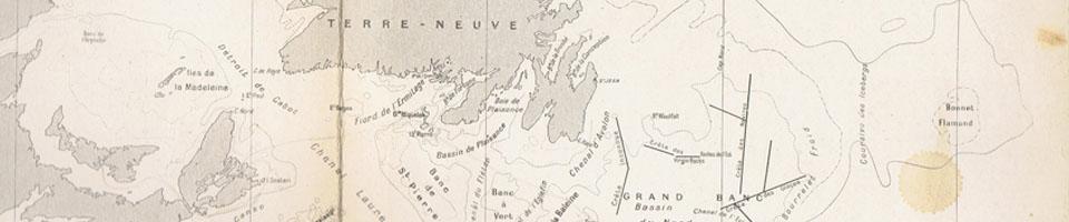 Histoire des îles St Pierre et Miquelon - 2900 documents: traités, cartographie, toponymie, archives, sources primaires, études, recherches, éphémérides.