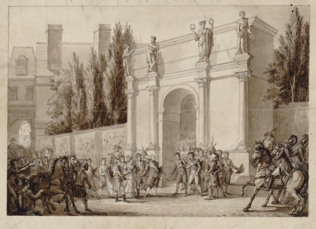 Réception de S. M. Louis XVIII à l'hotel de ville de Paris par le corps municipal le 29 août 1814